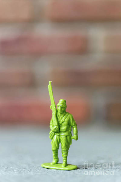 Toy Gun Photograph - Plastic Toy Soldier Army Man by Edward Fielding
