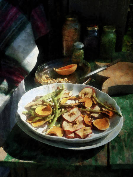 Photograph - Plate Of Dried Fruits And Vegetables by Susan Savad