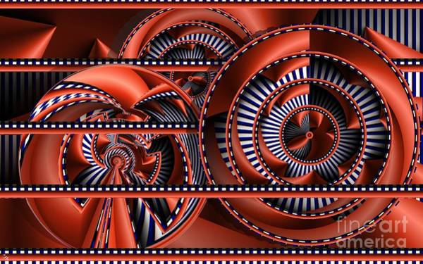 Distortions Digital Art - Plate Shelf by Ron Bissett