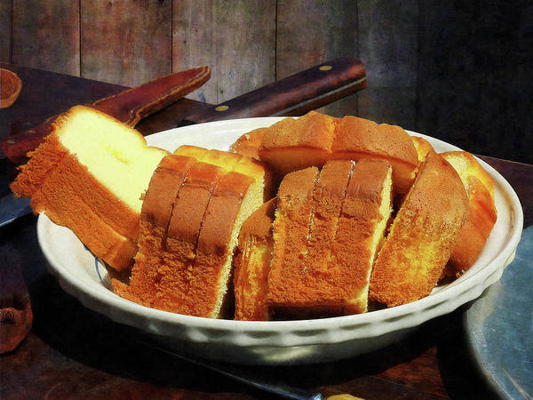 Photograph - Plate With Sliced Bread And Knives by Susan Savad