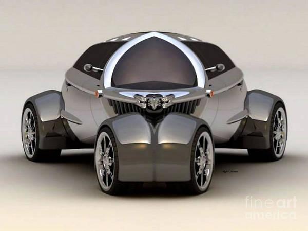 Digital Art - Platinum Car 010 by Rafael Salazar