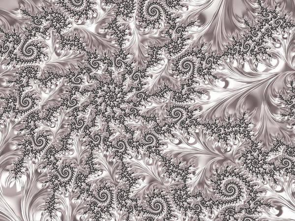 Digital Art - Platinum Leaves by Susan Maxwell Schmidt