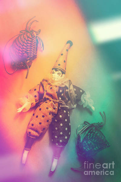 Carnival Photograph - Play Act Of A Puppet Clown Performing A Sad Mime by Jorgo Photography - Wall Art Gallery