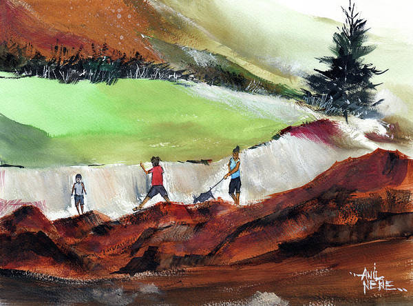 Painting - Play by Anil Nene