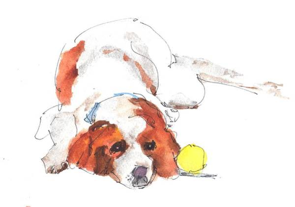 Painting - Play Ball By Kathleen Mcelwaine by Kathleen McElwaine