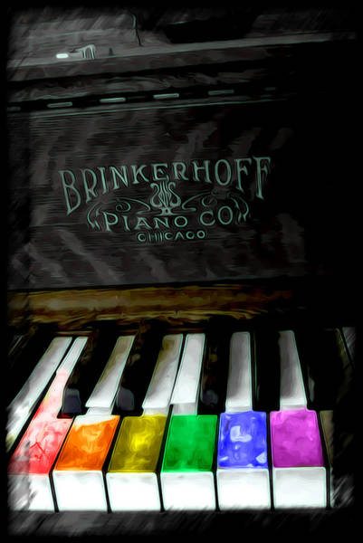 Piano Key Painting - Play Me A Song by Adam Vance