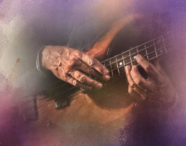 Bass Player Wall Art - Photograph - Play Me Some Blues by David and Carol Kelly