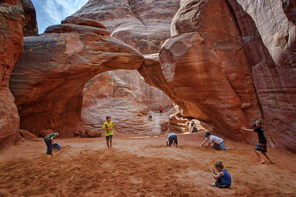 Paradox Photograph - Play - Sand Dune Arch by Nikolyn McDonald