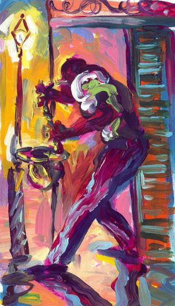 Wall Art - Painting - Play That Saxophone by Saundra Bolen Samuel