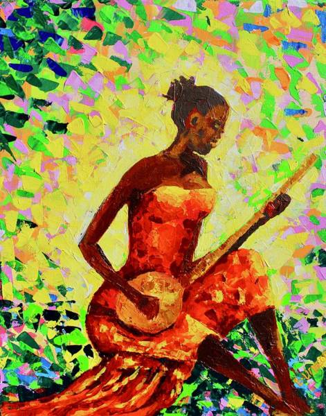 Painting - Play The Music by Liz - Nigeria