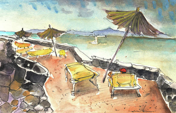 Painting - Playa Blanca In Lanzarote 03 by Miki De Goodaboom