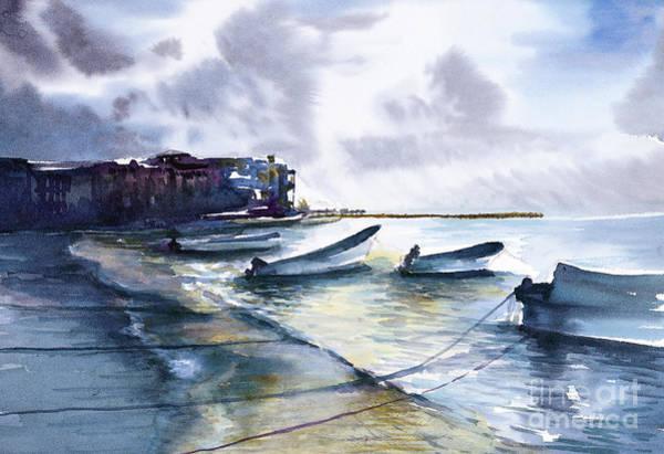 Painting - Playa Del Carmen by Allison Ashton