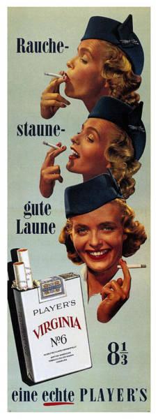 Wall Art - Mixed Media - Player's Virginia No.6 - Cigarettes - Vintage Advertising Poster by Studio Grafiikka