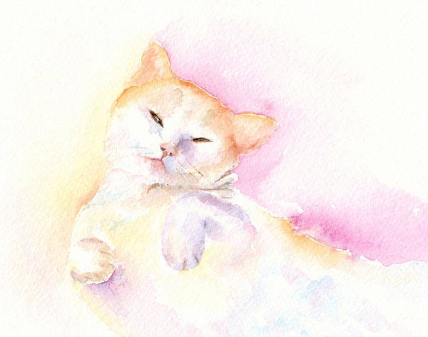 Painting - Playful Cat II by Elizabeth Lock