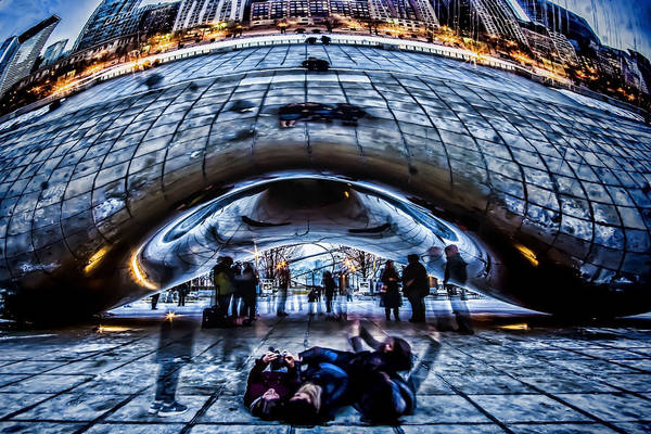 Millenium Photograph - Playful Ladies By Chicago's Bean  by Sven Brogren