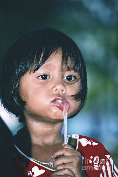 Photograph - Playful Little Girl In Thailand by Heiko Koehrer-Wagner