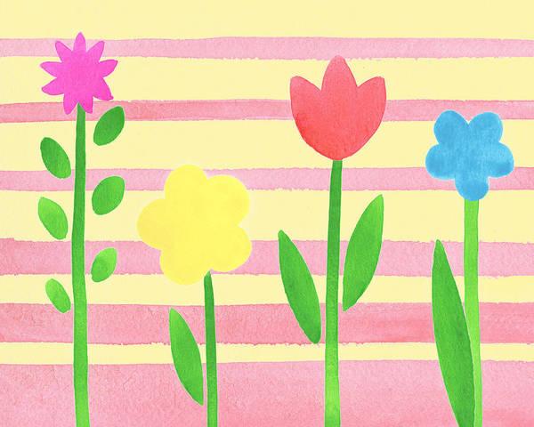 Painting - Playground Flowers by Irina Sztukowski