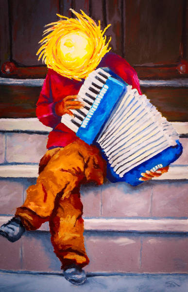Wall Art - Painting - Playin' For Free by Stephen Anderson