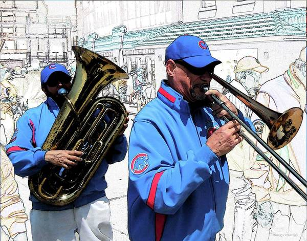 Photograph - Playing At Wrigley by Coleman Mattingly