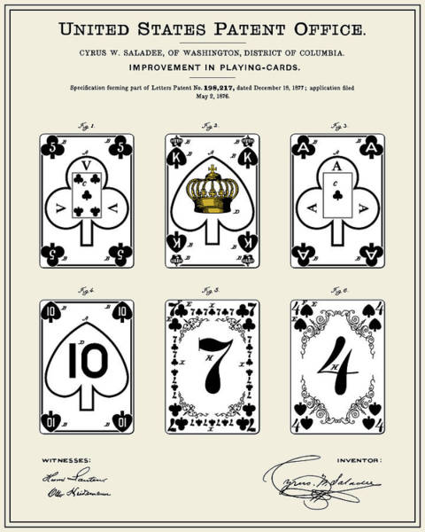 Deck Of Cards Digital Art - Playing Cards Patent - Colour by Finlay McNevin