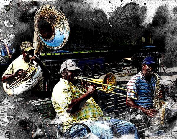 Photograph - Playing In New Orleans by Coleman Mattingly