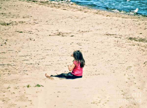 Wall Art - Photograph - Playing In The Sand by Mary Machare