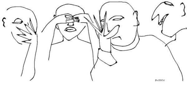 Digital Art - Playing Peep Eye by Doug Duffey