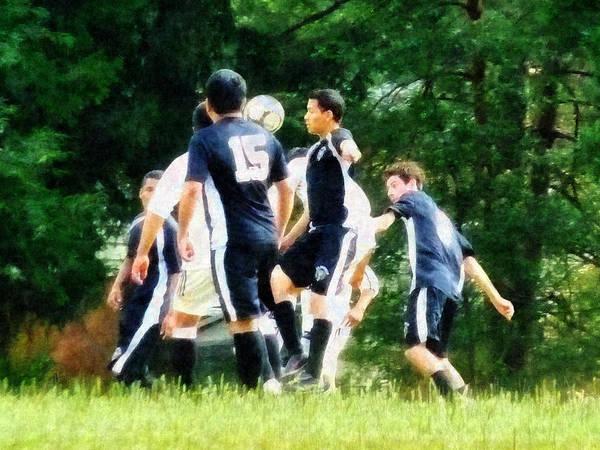Photograph - Playing Soccer by Susan Savad