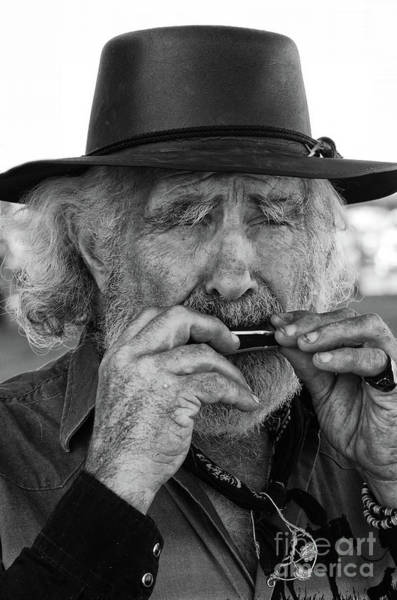Lethbridge Photograph - Playing The Blues by Bob Christopher