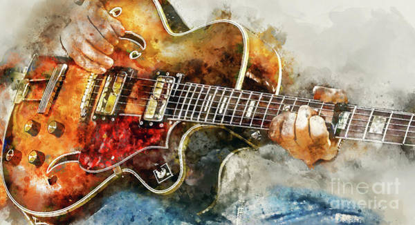 Six Painting - Playing The Blues by Jon Neidert