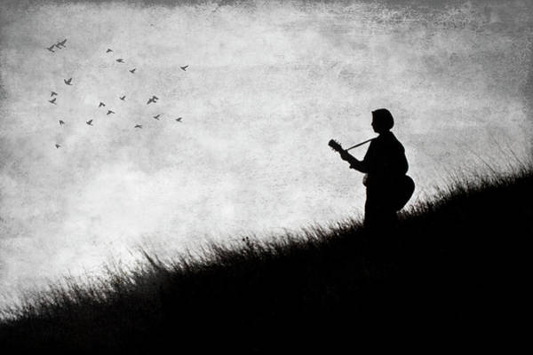 Wall Art - Photograph - Playing The Guitar by Garry Gay
