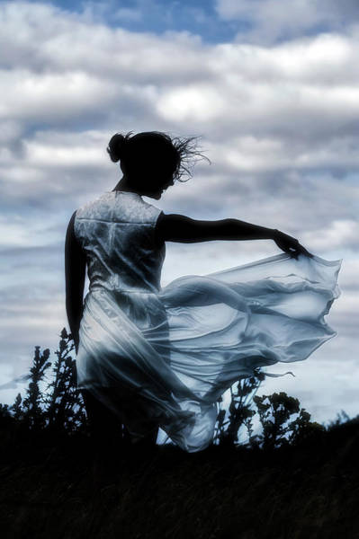 Silhoutte Photograph - Playing With The Wind by Joana Kruse