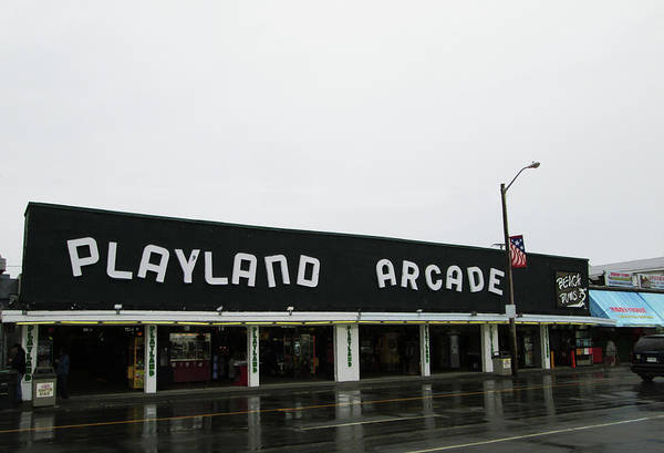 Photograph - Playland Arcade by Mary Capriole