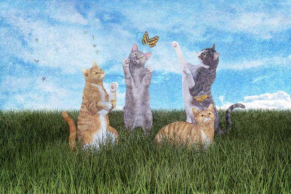 Playful Digital Art - Playtime  by Betsy Knapp