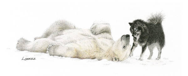 Husky Mixed Media - Playtime by Lorrisa Dussault
