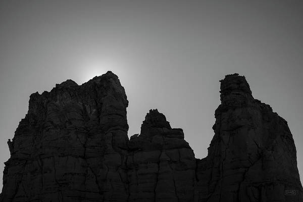 Photograph - Plaza Blanca Abiquiu Nm II Bw by David Gordon