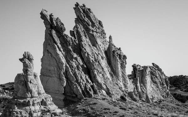 Photograph - Plaza Blanca Abiquiu Nm  Pano I Bw by David Gordon