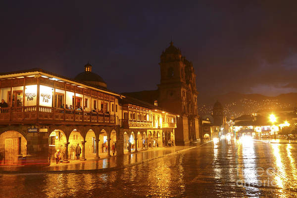 Photograph - Plaza De Armas And Norton Pub Cusco Peru by James Brunker