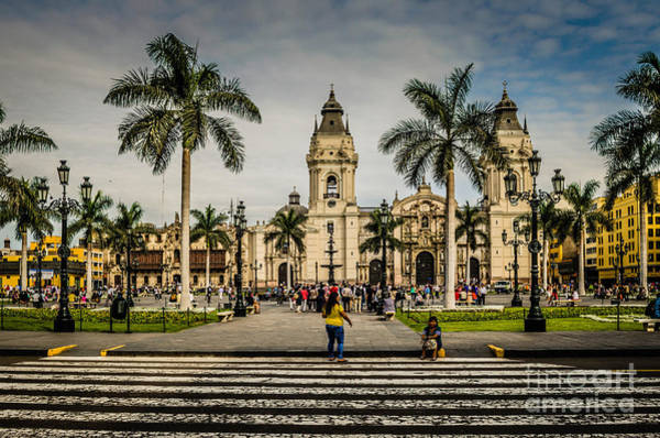 Wall Art - Photograph - Plaza De Armas Of Lima, Peru by Mary Machare
