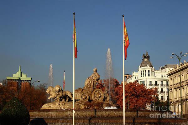 Photograph - Plaza De Cibeles Madrid by James Brunker