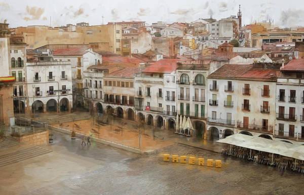 Photograph - Plaza Mayor Caceres Spain by Joan Carroll