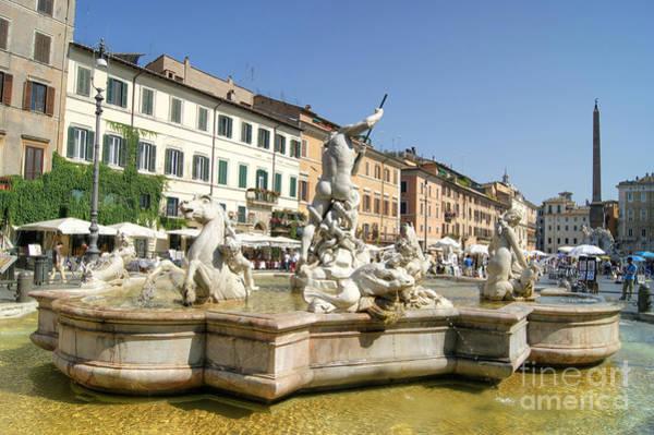 Photograph - Plaza Navona In Rome by David Birchall
