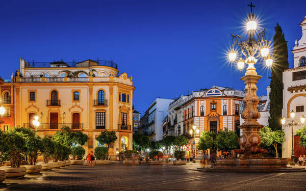 Photograph - Plaza Virgen De Los Reyes, Seville, Andalusia, Spain by Alexandre Rotenberg