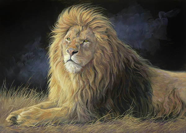 Lions Painting - Pleasant Breeze by Lucie Bilodeau