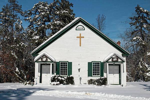Photograph - Pleasant Mills Church In Winter by Kristia Adams