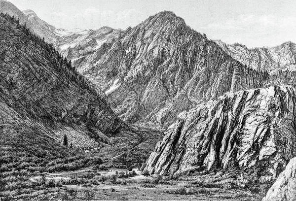 Charcoal Drawing Photograph - Pleasant Mountain Valley by Douglas Barnett