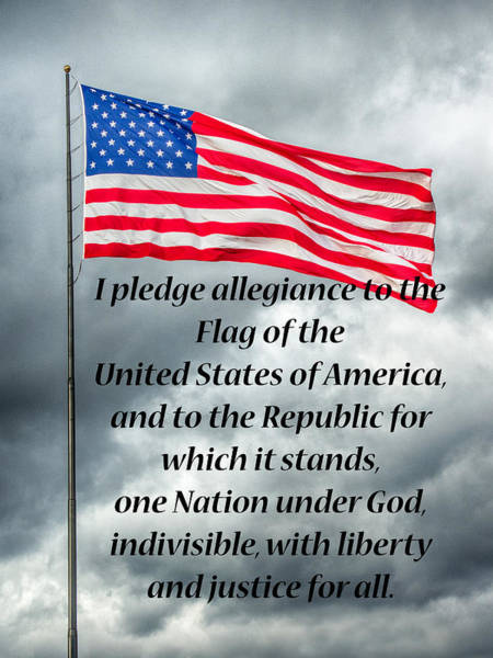 Photograph - Pledge Of Allegiance by Guy Whiteley