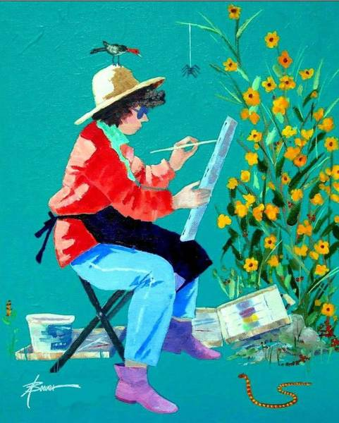 Painting - Plein Air Painter  by Adele Bower