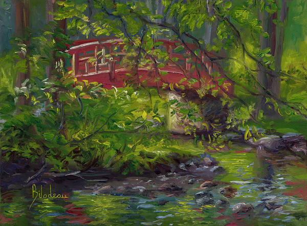 Painting - Plein Air - Small Bridge by Lucie Bilodeau