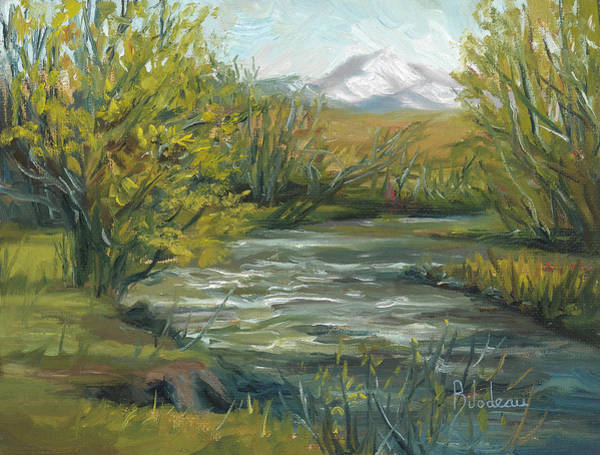 Painting - Plein Air - Spring In Montana by Lucie Bilodeau